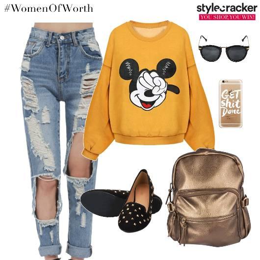 Sweatshirt RippedDenims Backpack Footwear  - StyleCracker