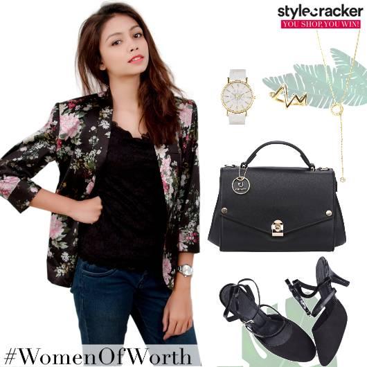 WorkWear Blazer FloralPrint Handbag - StyleCracker