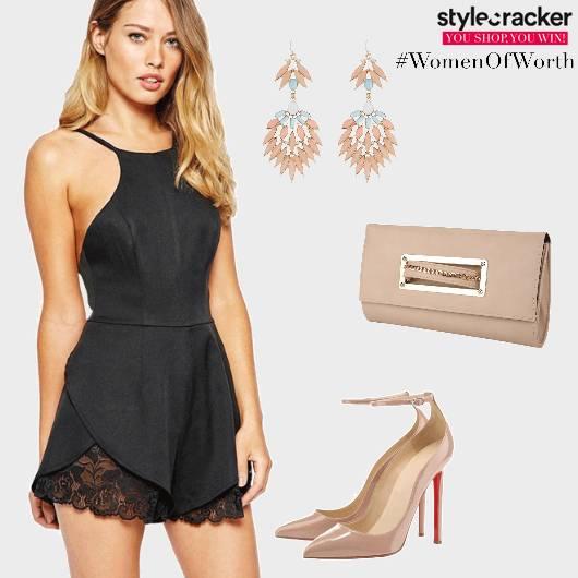 Playsuit Dinner Lace Heels - StyleCracker
