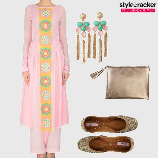 Kurta Indian Pastel Juttis  - StyleCracker