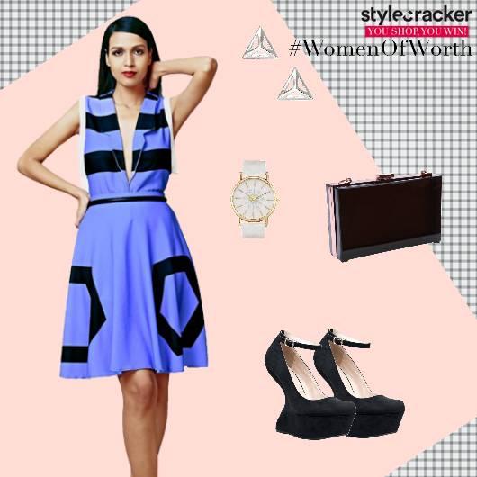 Fitandflare Dress Pumps Boxclutch Watch  - StyleCracker