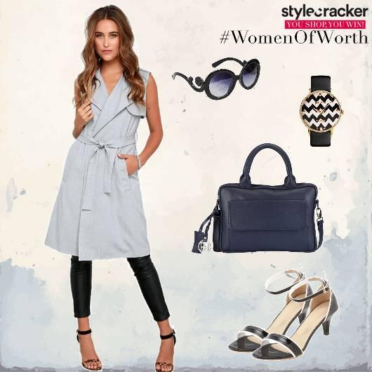 Trenchcoat Handbag Kittenheels Work - StyleCracker