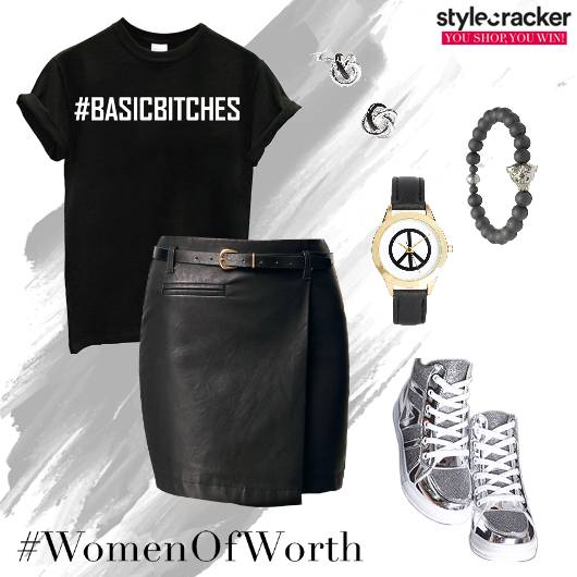 T-Shirt Skirt HighTops Watch  - StyleCracker