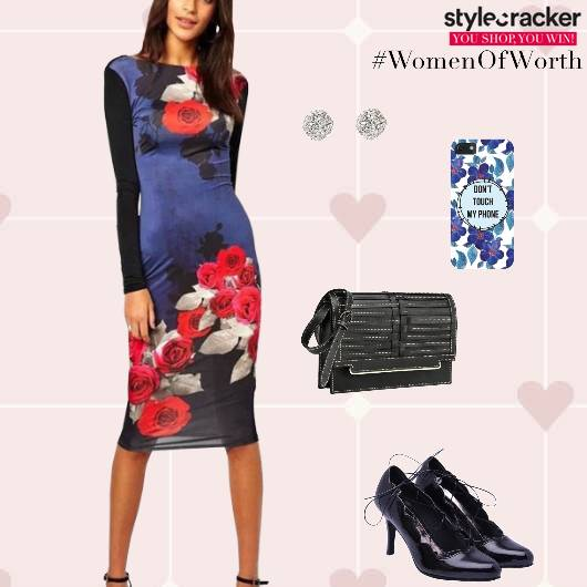 Bodycon Dress Pumps Bag Party - StyleCracker