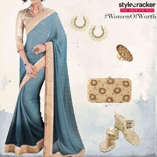 Saree Clutch Heels Ethnic - StyleCracker