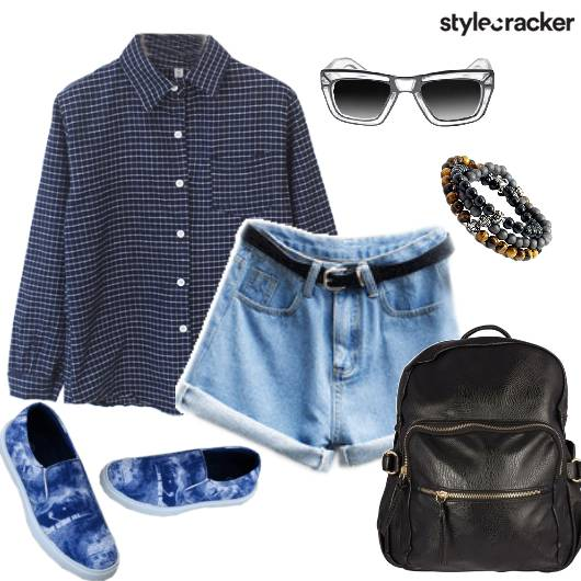 Shirt Shorts Casual College Summer - StyleCracker