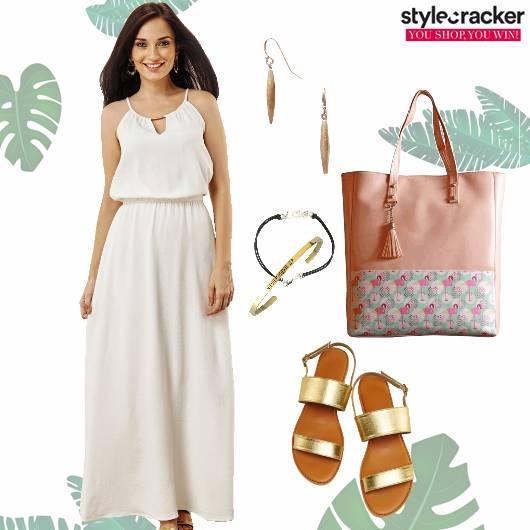 Maxi Dress Tote Flats Summer  - StyleCracker