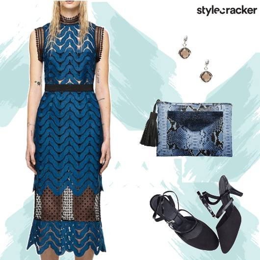 Weekend Party Dress Blue Clutch - StyleCracker