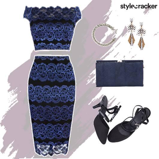 LaceTwinSet Accessories Clutch Footwear  Blue - StyleCracker