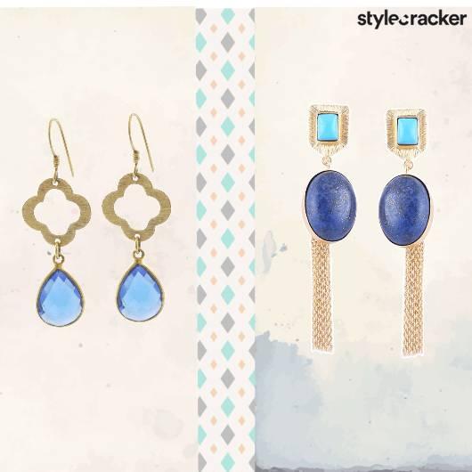 SCLoves Blue Stone Earrings - StyleCracker