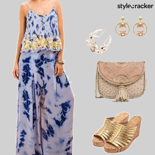 Festive Indian TieAndDye Blue - StyleCracker