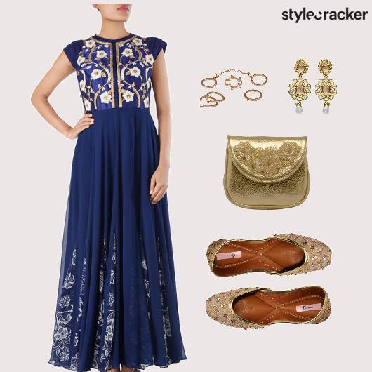 Indian Reception Wedding Blue  - StyleCracker