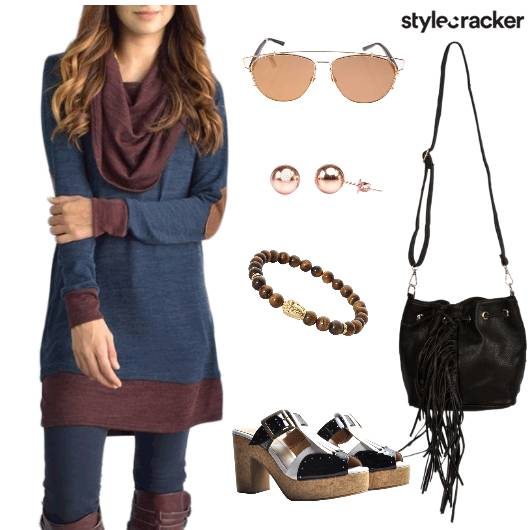 Casual Lunch Day Blue - StyleCracker