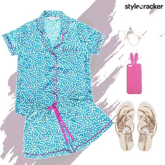 NightWear Pyjama Printed Blue - StyleCracker