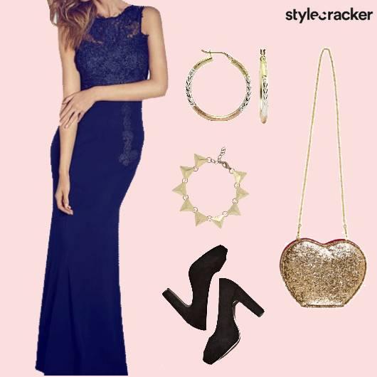 Gown Party Lace NightOut Blue - StyleCracker