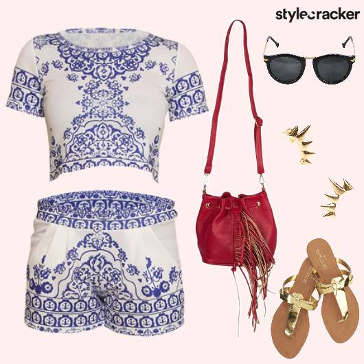TwinSet Blue Summer Prints  - StyleCracker