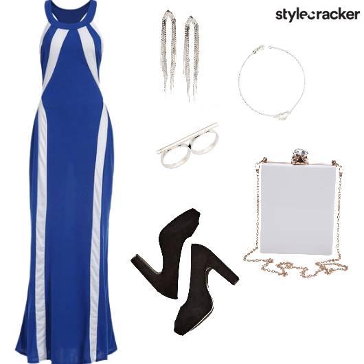 MaxiDress Night Party  Blue - StyleCracker