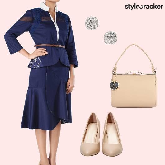 TwinSet Blue Classic Event  - StyleCracker