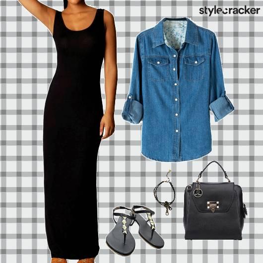 MovieNight MaxiDress Denim Layer Accessories - StyleCracker