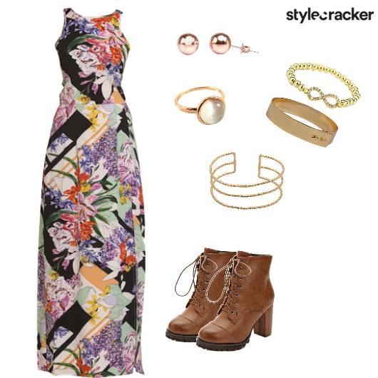 Print Dress Boots Casual Summer - StyleCracker