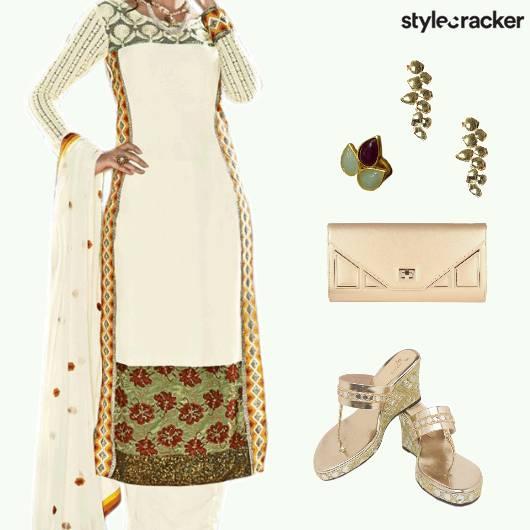 Festive Ethnic iIndian Suit - StyleCracker