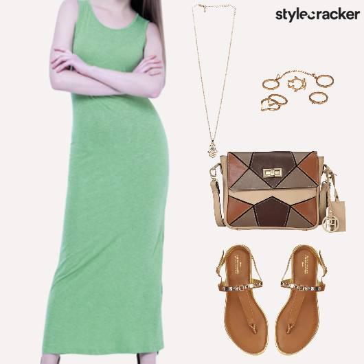 Casual Shopping Lunch Maxi Dress - StyleCracker