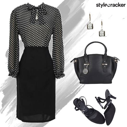 Monochrome Dress Work Formal - StyleCracker