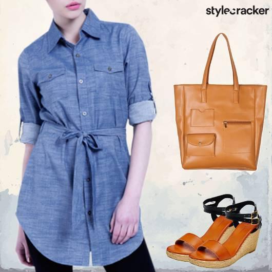 Day Denim LongShirt  - StyleCracker