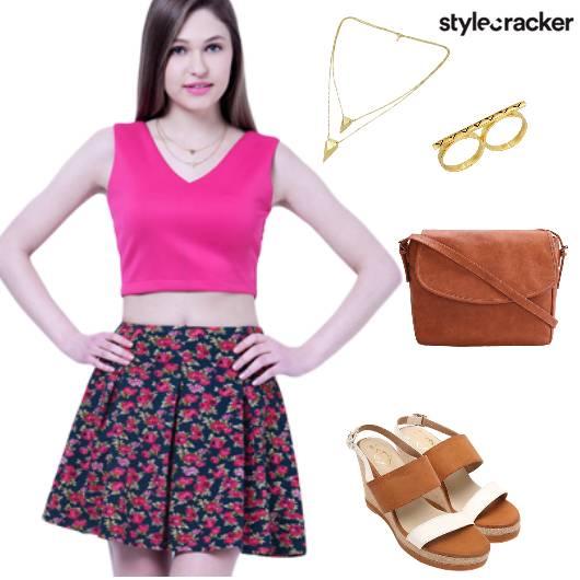 Skirt Floral Brunch  - StyleCracker