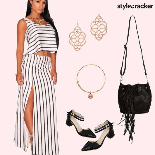 Stripes TwinSet  Lunch  - StyleCracker
