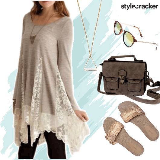 Casual Shopping LongTop LaceDetails - StyleCracker