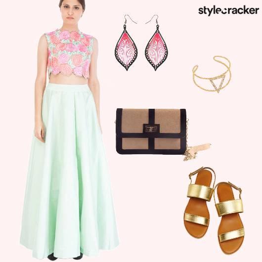 SkirtSet Floral Pastel Summer  - StyleCracker
