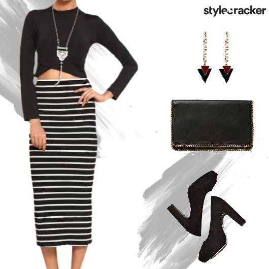 Party TwinSet Croptop Skirt - StyleCracker