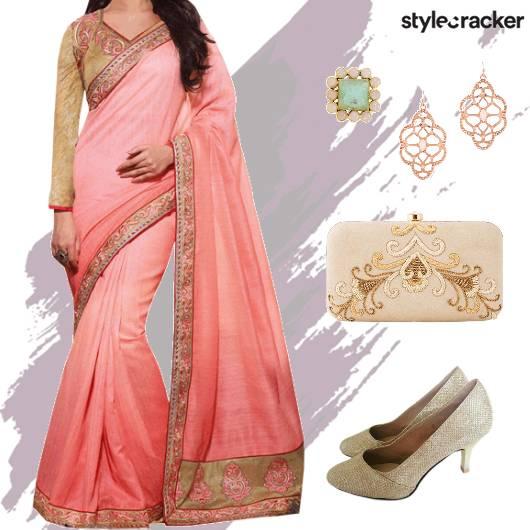 Festive Indian Saree Clutch - StyleCracker