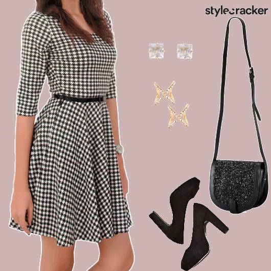 Monochrome Dress SlingBag Formal - StyleCracker