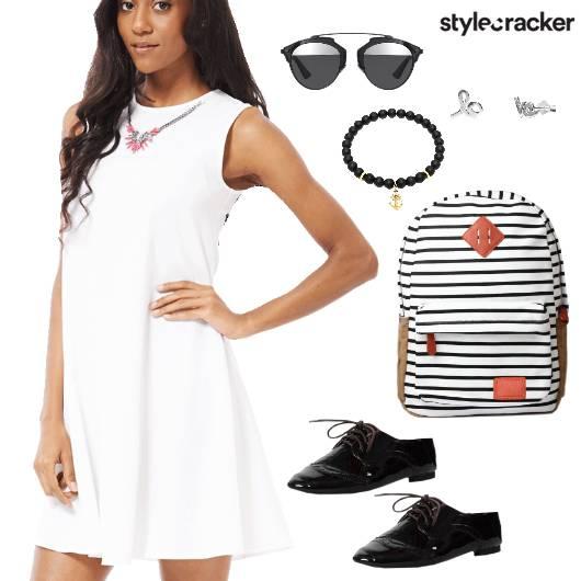 SkaterDress Shoes Backpack Summer Casual  - StyleCracker
