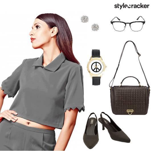 CropTop Skirt Formal Work  - StyleCracker