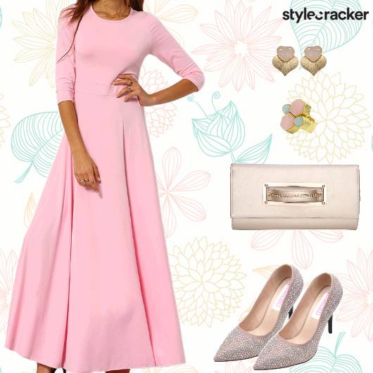 Formal MaxiDress Earrings Clutch - StyleCracker