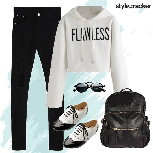 Sweatshirt Backpack Sunglasses College - StyleCracker