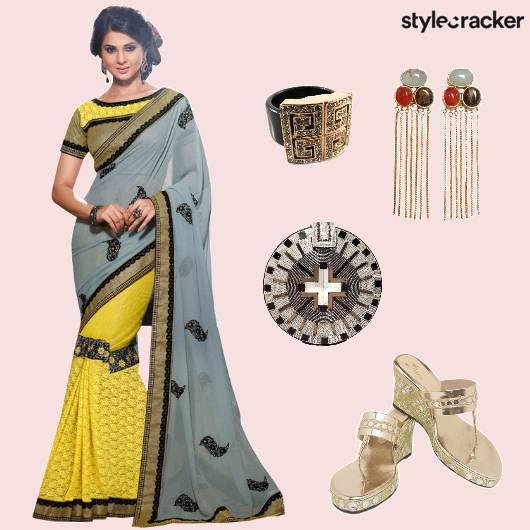 Saree Indian EmbellishedClutch Ethnic  - StyleCracker