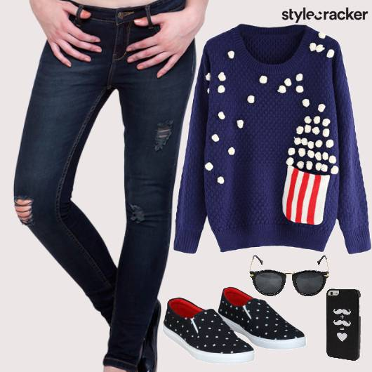 Sweatshirt SlipOns RippedDenims Casual - StyleCracker