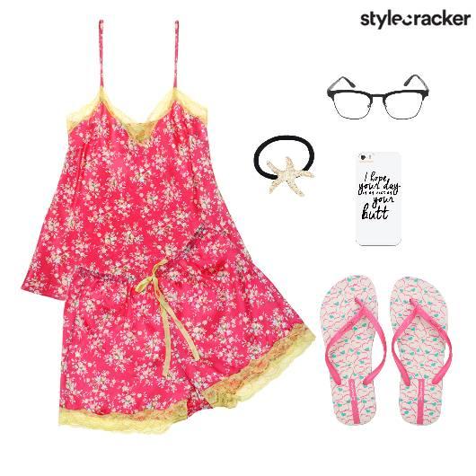 CamiShortsSet NightWear PyjamaParty  - StyleCracker