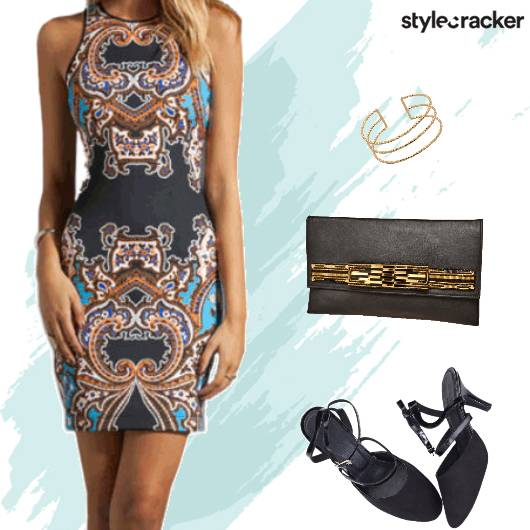 Printed Bodycon Dress Heels - StyleCracker