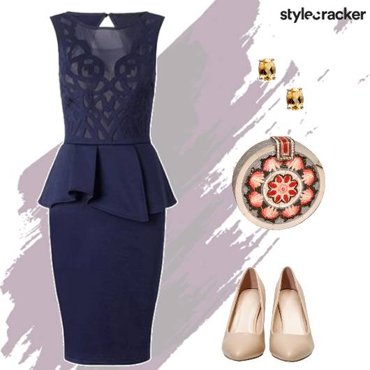 Night Party Peplum Dress StatementClutch - StyleCracker