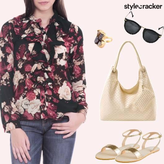 Casual Printed ButtonDown Shirt - StyleCracker