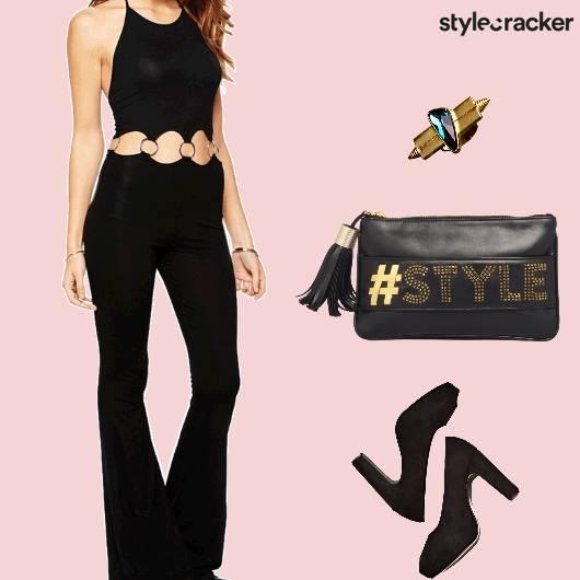 Formal Party Jumpsuit Cutout - StyleCracker