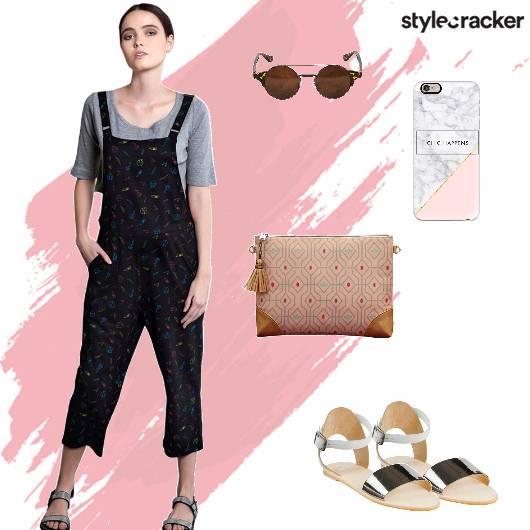Jumpsuit Flats Clutch Casual - StyleCracker