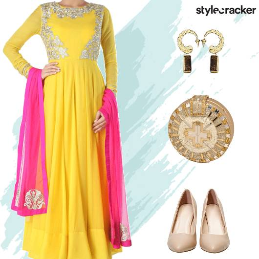Festive Ethnic Indian Anarkali   - StyleCracker