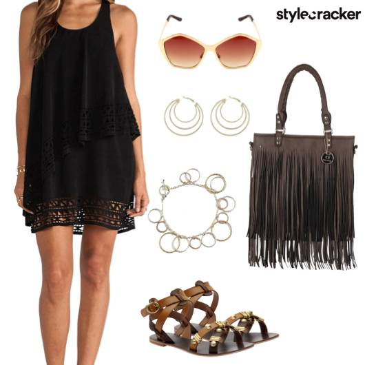 Layered Dress Fringe Summer  - StyleCracker