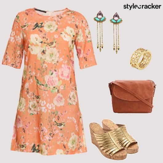 Floral CoffeeWithTheGirls Wedges SlingBag - StyleCracker